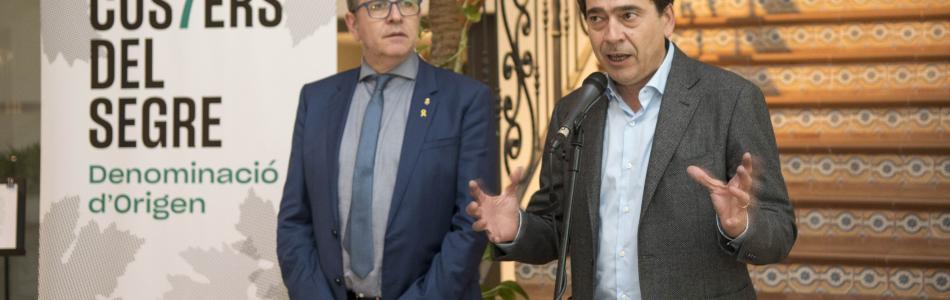 Tomàs Cusiné, Presidente de la DO Costers del Segre y Joan Talarn, Presidente de la Diputación de Lleida